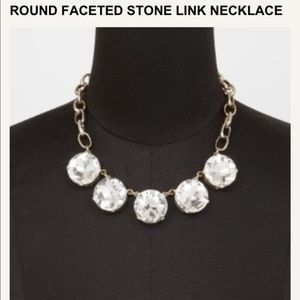 Stone link necklace